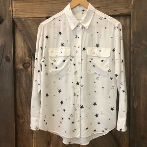 Equipment Femme Silk Star Button Up Blouse Shirt